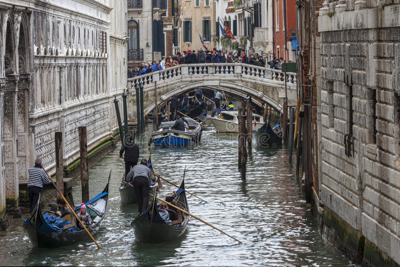 Venetian trafik royaltyfri fotografi