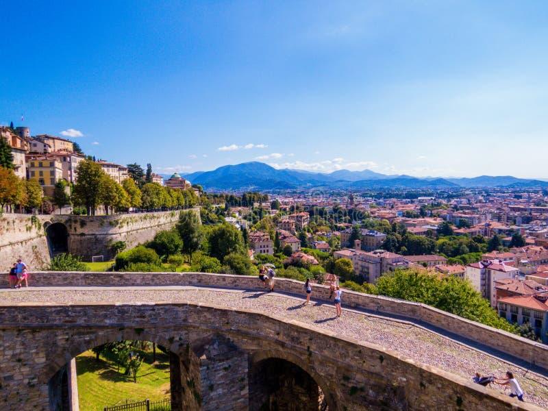 Venetian Walls, Bergamo, Italy royalty free stock image