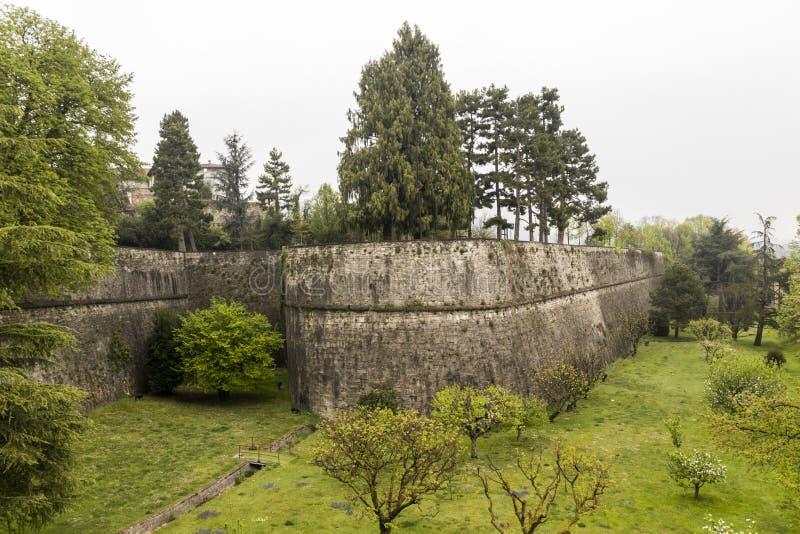 Venetian Walls, Bergamo, Italy stock image