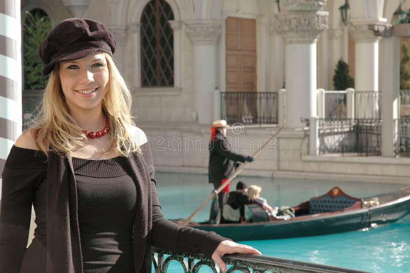 Venetianische Frau lizenzfreies stockbild