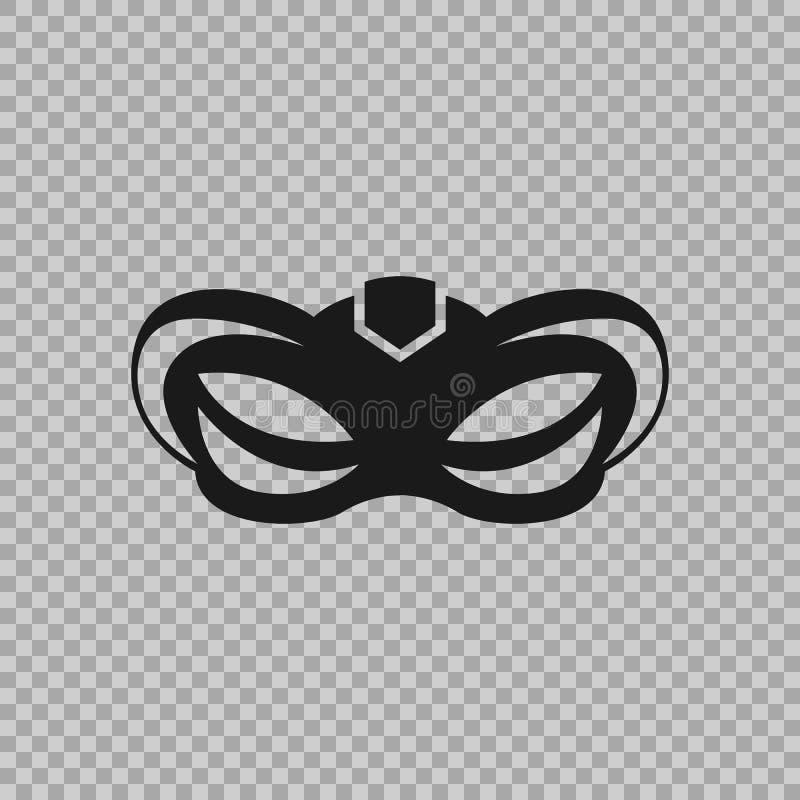 Venetianische Ikonensymbol-Karnevalsmaske lokalisiert auf einem transparenten Hintergrund stock abbildung