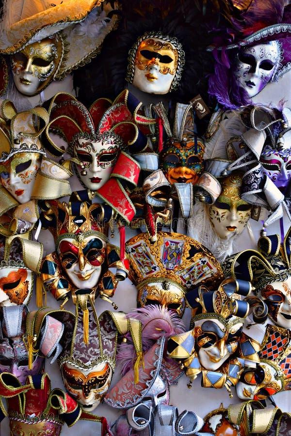 Venetianische Karnevalsschablonen lizenzfreie stockbilder