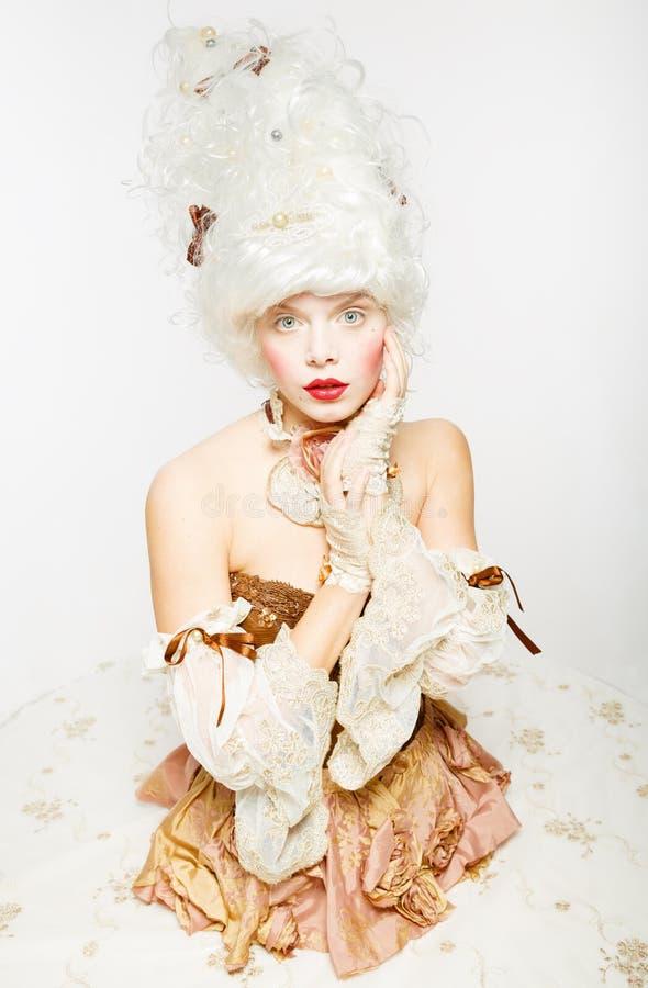 Venetianische Prinzessin. Kostümball stockfotos