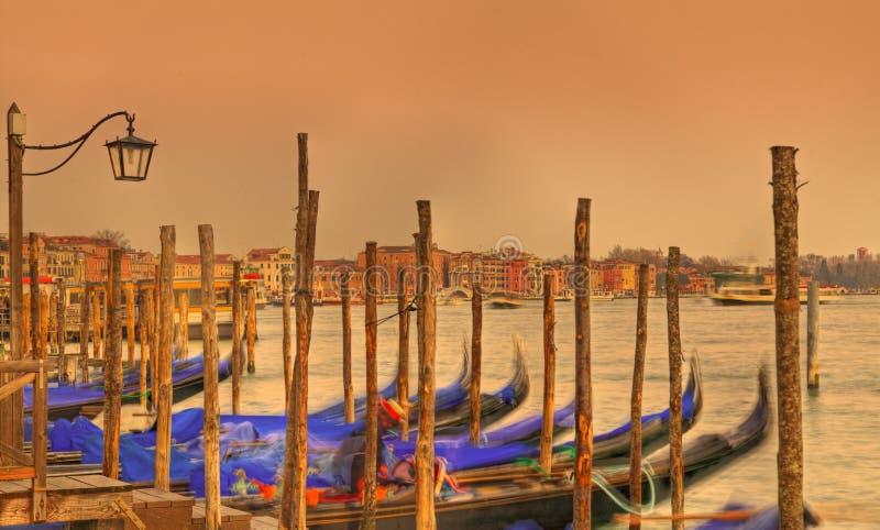 Venetianischer Sonnenuntergang lizenzfreies stockfoto