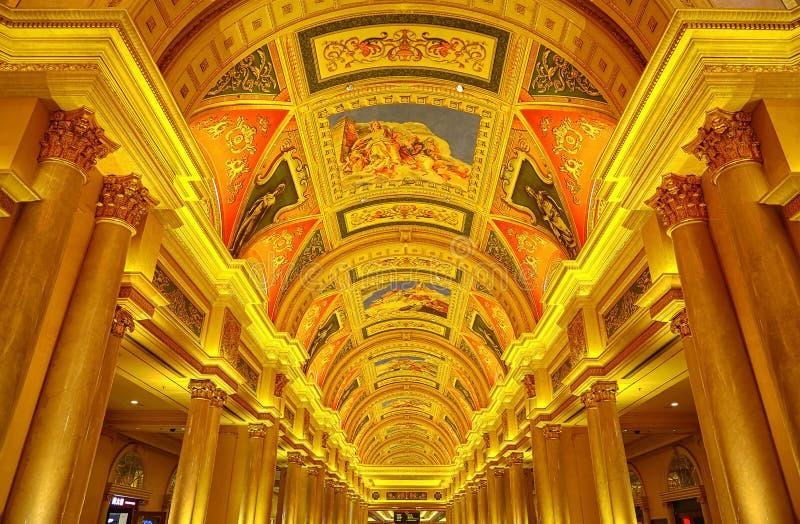 Venetianisches Hotel und Kasino, Macao stockbild