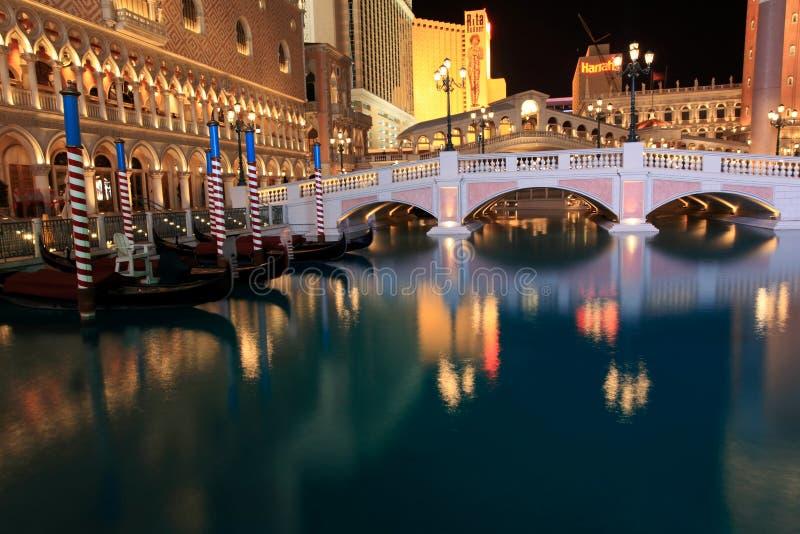 Venetianisches Las Vegas nachts stockfotos