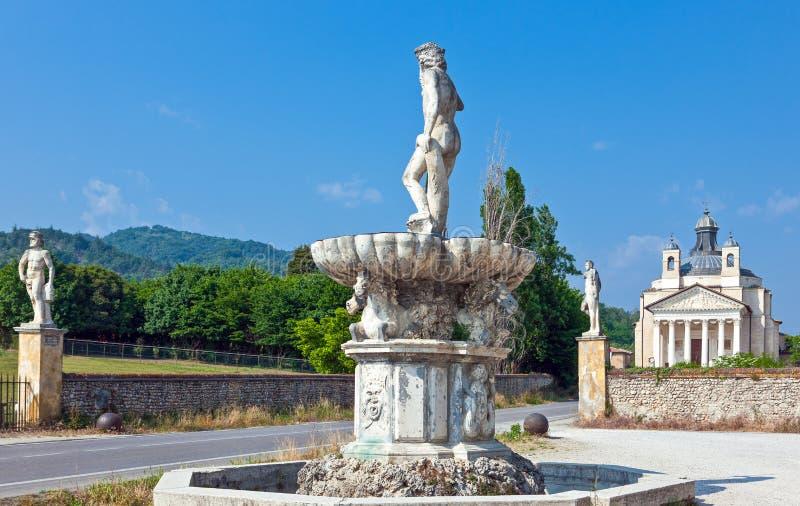 Veneto De villa's door architect Andrea Palladio worden ontworpen dat stock foto