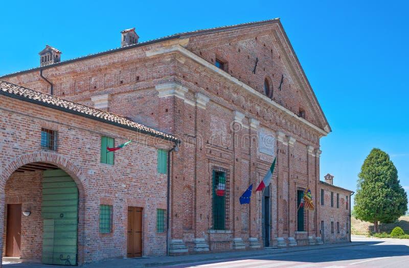 Veneto De villa's door architect Andrea Palladio worden ontworpen dat royalty-vrije stock afbeelding