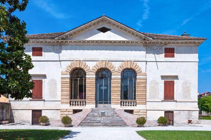 Veneto De villa's door architect Andrea Palladio worden ontworpen dat royalty-vrije stock afbeeldingen