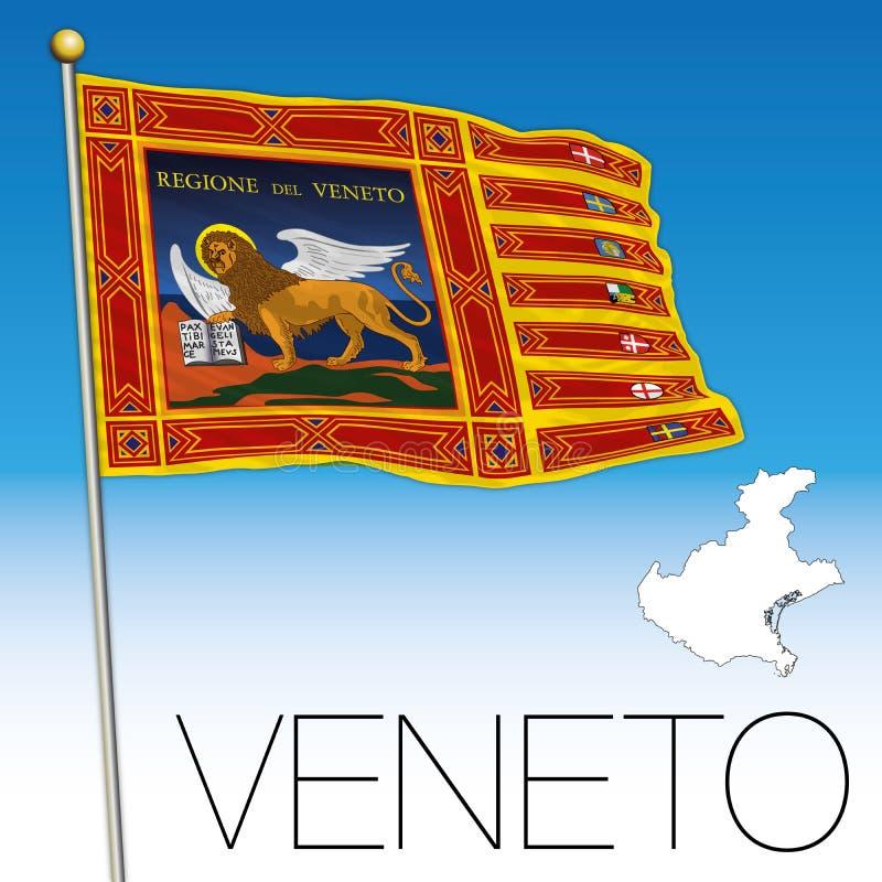 Veneto Flag And Map, Italy, Flag Of Saint Marco Stock Vector ...