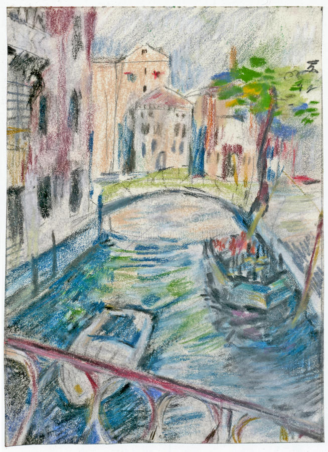 Veneza 2 ilustração stock