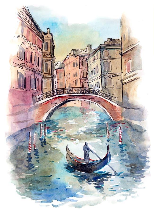 Veneza ilustração stock