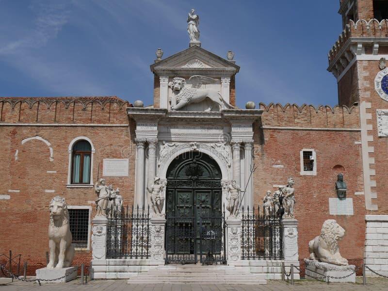 Veneza - arsenal imagens de stock