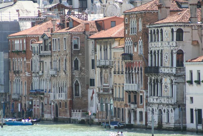 Veneza, canal grande imagens de stock royalty free