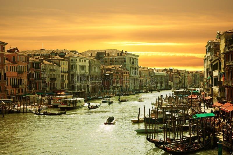 Veneza, canal grandioso imagem de stock royalty free