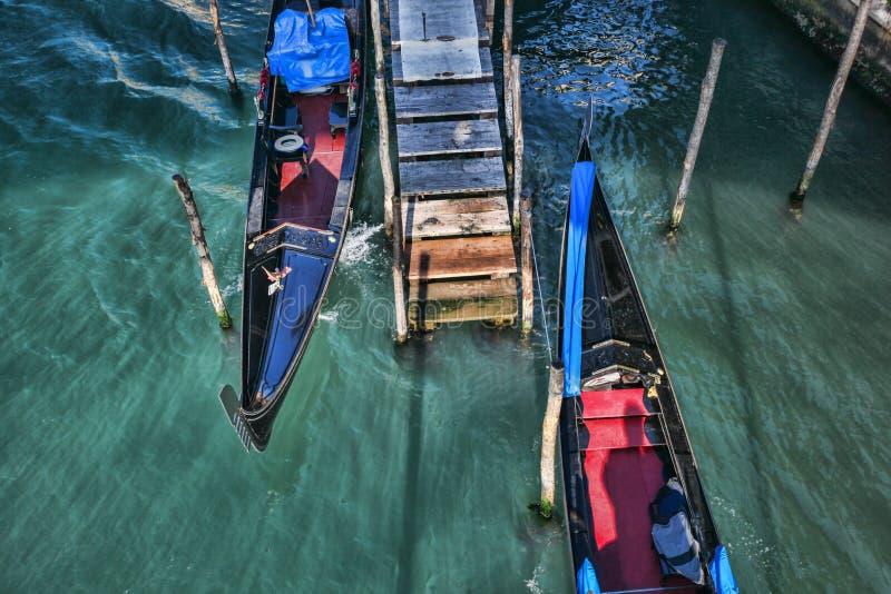 Veneza com as gôndola em Italy imagem de stock