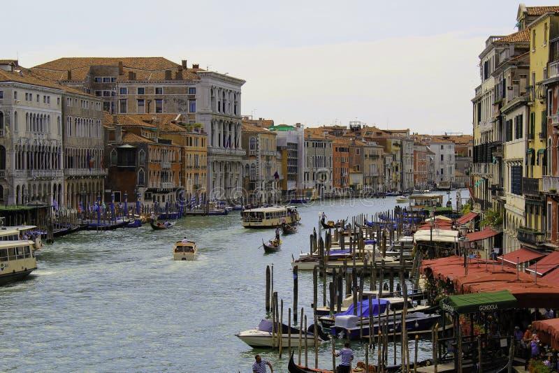 Veneza Itália da ponte de Rialto foto de stock