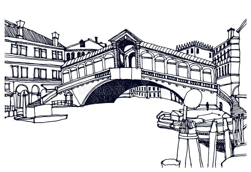 Veneza, Italy ilustração do vetor