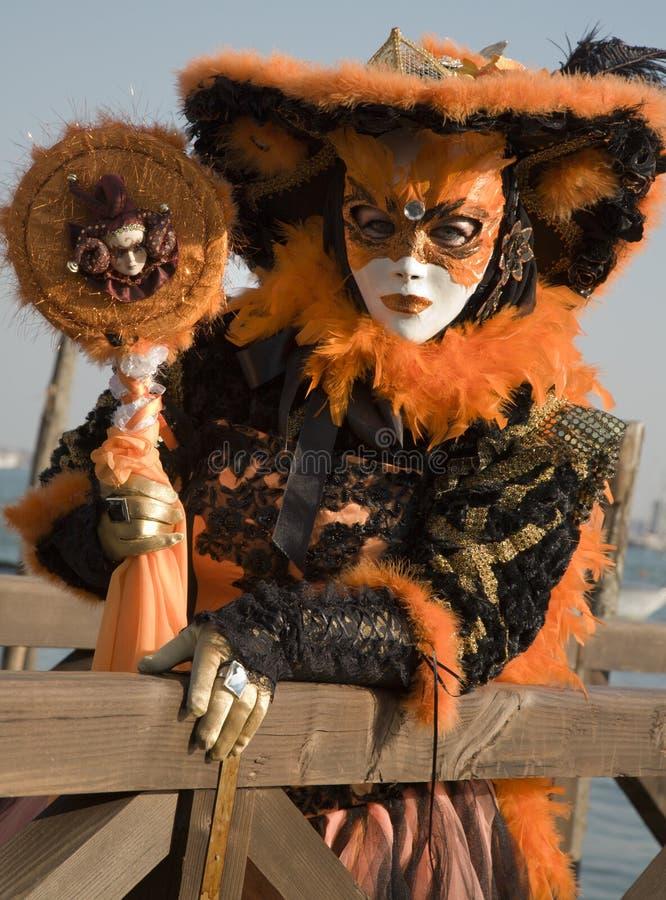 Veneza - máscara luxuosa do carnaval foto de stock royalty free