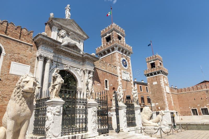 Veneza, o arsenal foto de stock royalty free