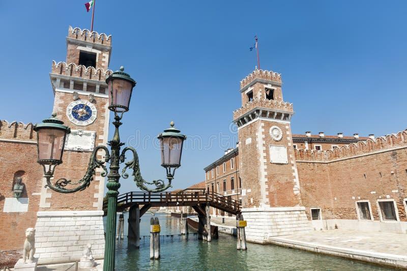 Veneza, o arsenal imagens de stock royalty free