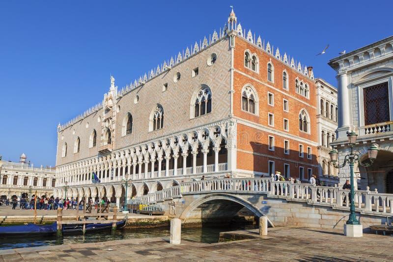 Veneza, o palácio dos doges imagens de stock royalty free