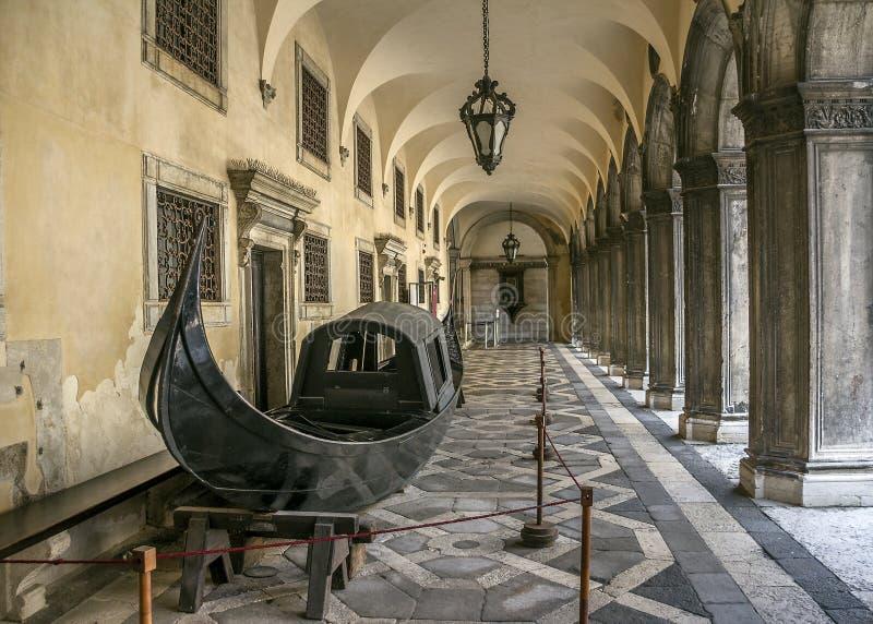 Veneza Pátio do palácio do doge imagens de stock