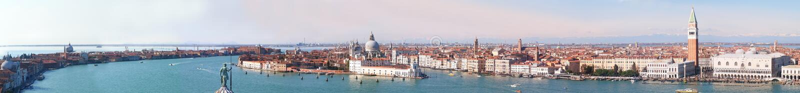 Veneza - panorama imagens de stock royalty free