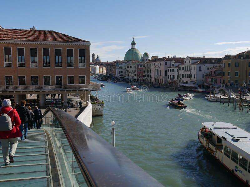 Veneza - ponte da constituição imagem de stock