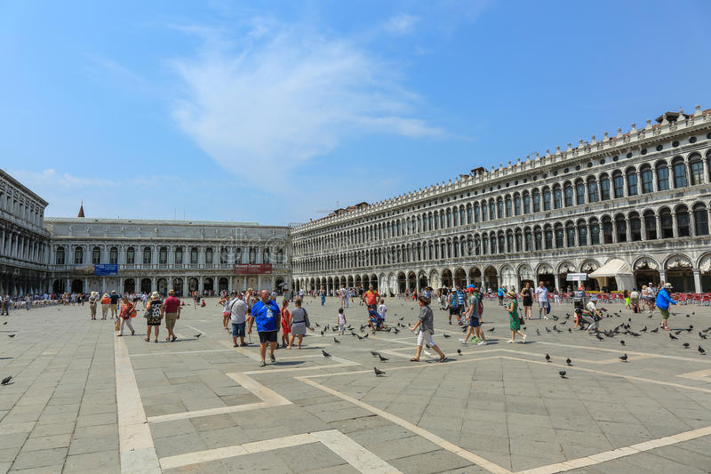 Veneza - praça San Marco fotos de stock royalty free