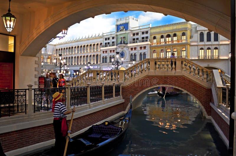 Veneza recreou, Las Vegas imagem de stock