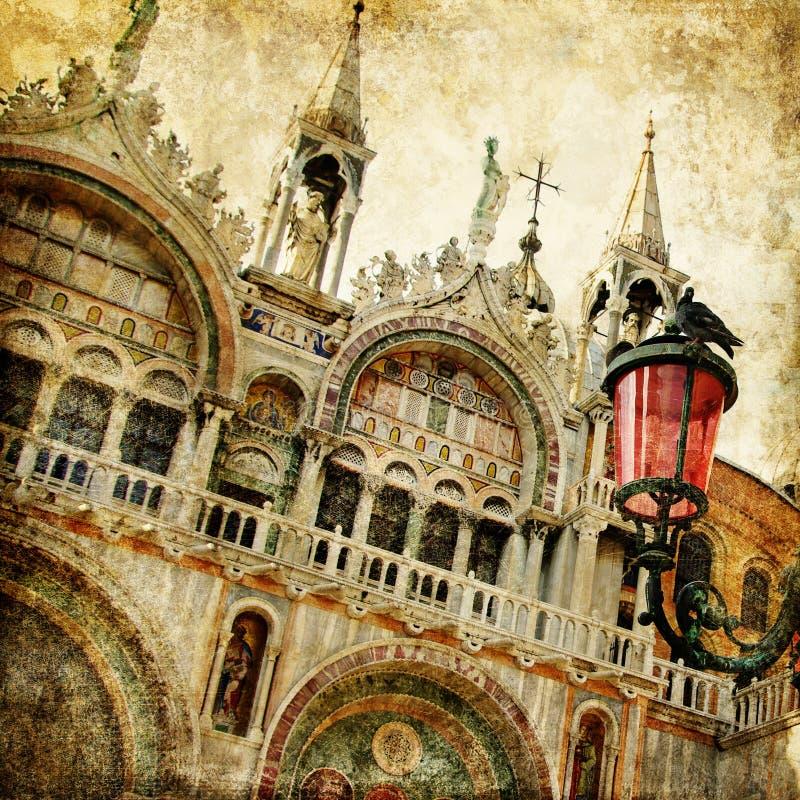 Veneza - San de surpresa Marco fotografia de stock