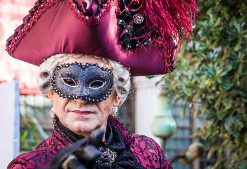 Venezia,意大利, 2016年2月6日:狂欢节服装威尼斯狂欢节是在威尼斯举行的一个每年节日,意大利 节日 免版税库存照片