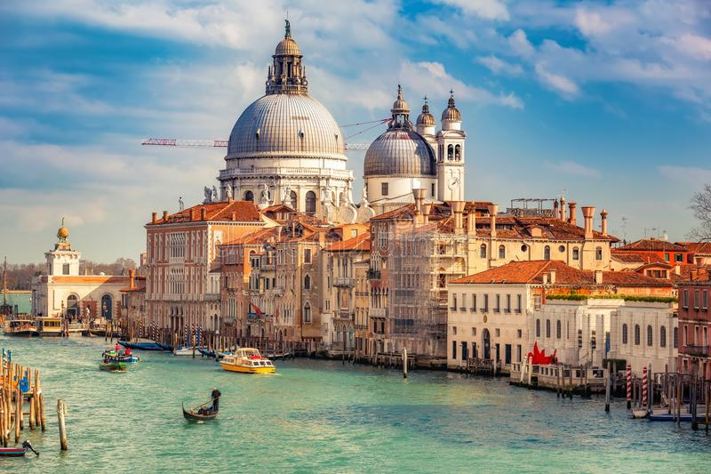 Venezia alla sera soleggiata fotografia stock