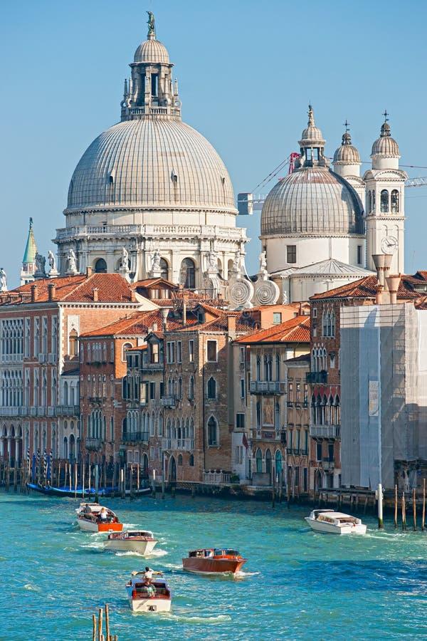 Venezia, basilica del saluto di della della Santa Maria, fotografia stock