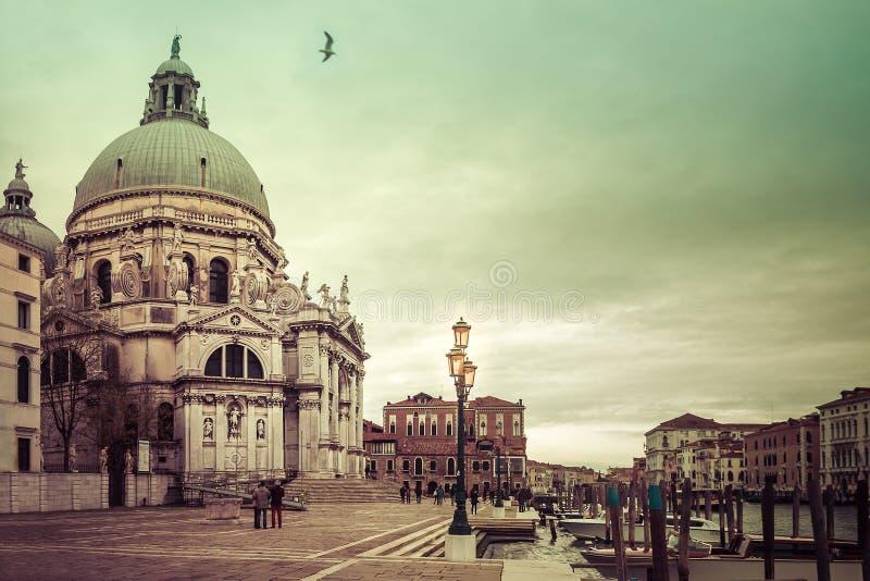 Venezia basilika av Santa Maria della Salute royaltyfria foton