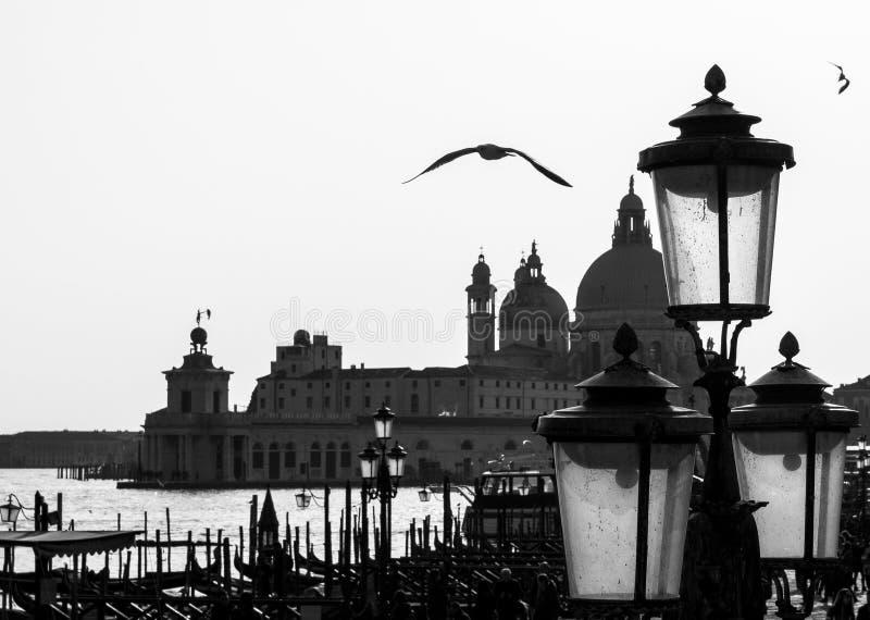 Venezia in bianco e nero fotografie stock