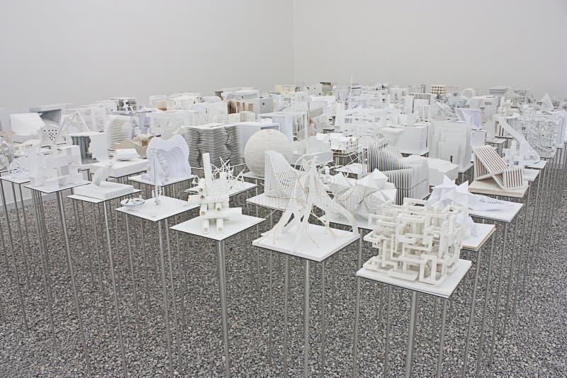 Venezia Biennale 2012: Padiglione dell'Ungheria fotografia stock