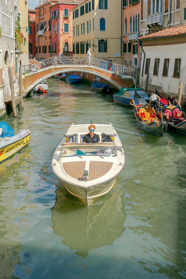 Venezia Canali della città fotografia stock