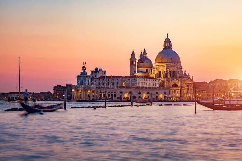 Venezia, Italia al tramonto immagini stock libere da diritti