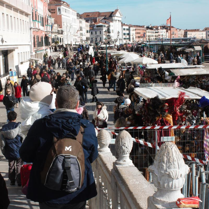Venezia, Italia, a febbraio una dei carnevali più famosi nel mondo per sperimentarlo nella prima persona fotografia stock libera da diritti
