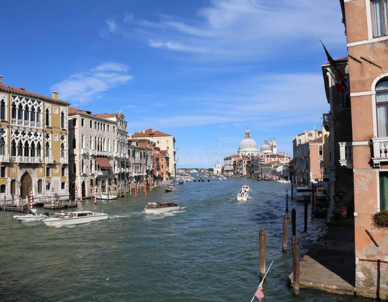 Venezia, Italia - 14 luglio 2016: Grand Canal ha chiamato il canale i grande fotografia stock libera da diritti
