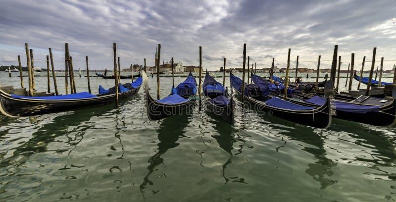 Venezia, Italia Paesaggio sbalorditivo del canale fotografie stock libere da diritti