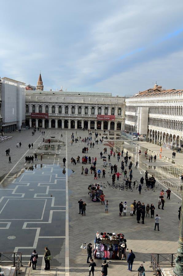 Venezia, Italia Piazza San Marco o quadrato di St Mark Vista da Basilica di San Marco immagine stock