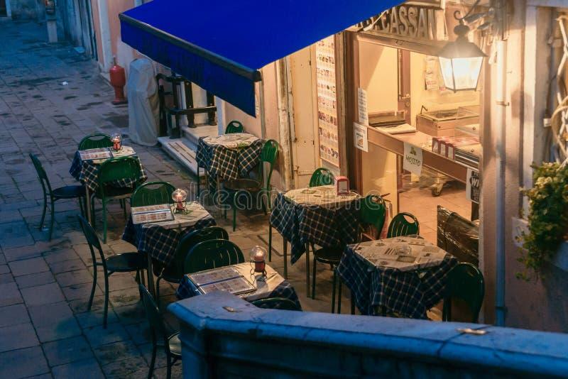 Venezia kawiarnia zdjęcie stock