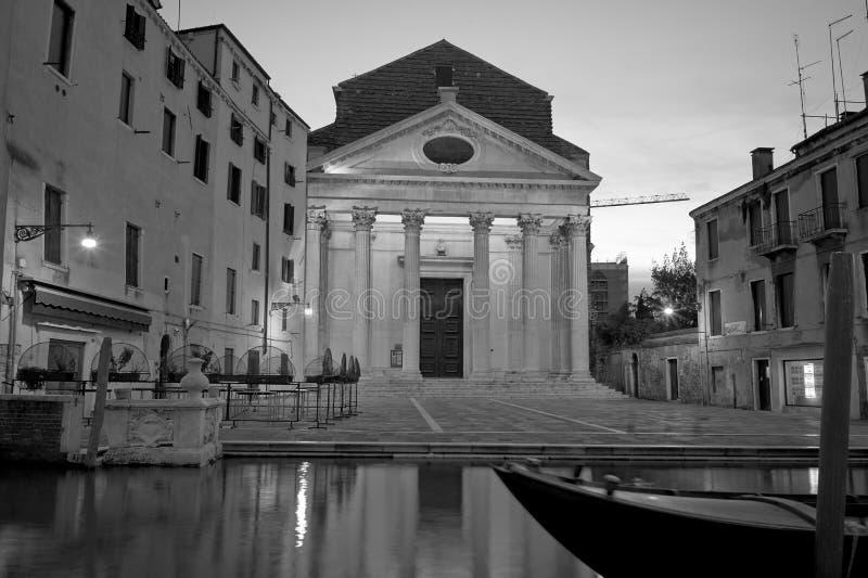 Venezia lång exponering vid natt arkivfoton