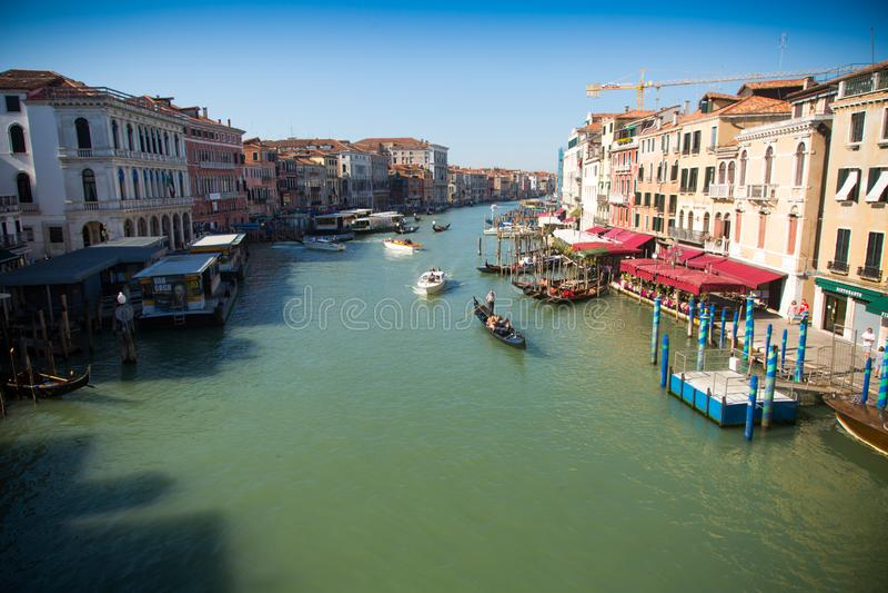 Venezia L'Italia 8 settembre 2018 Grand Canal fra le case nel centro di Venezia fotografia stock