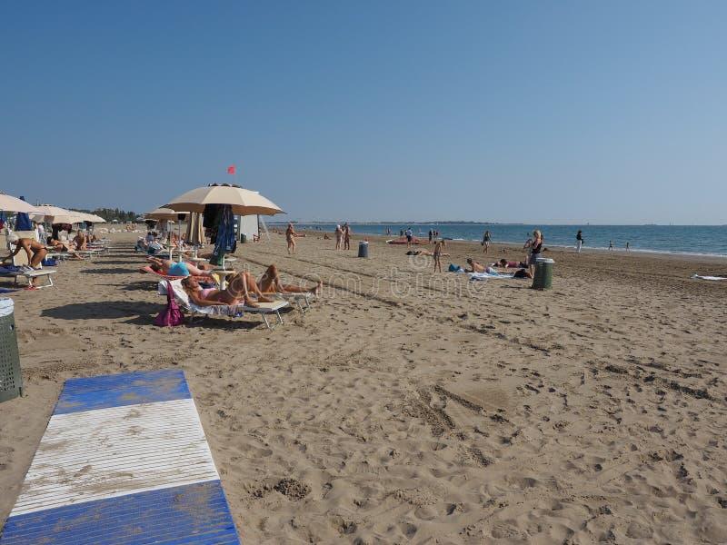 Venezia Lido Beach in Venice royalty free stock photos