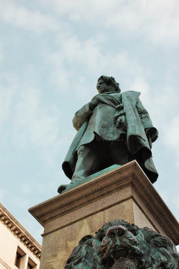 Venezia - Luigi Borro & x28; 1826-1886& x29; - Monumento en Daniele Manin & en x28; 1875& x29; fotografering för bildbyråer