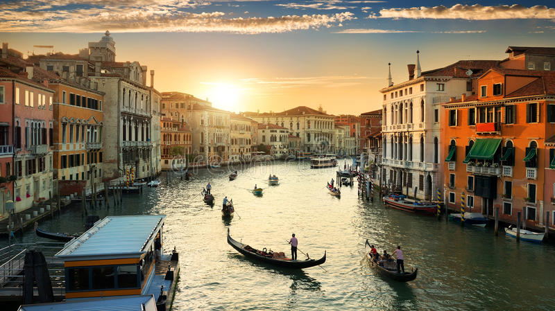 Venezia nella sera immagine stock